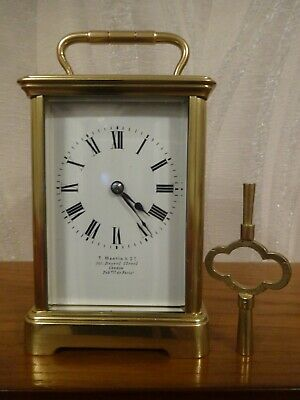 Arsene Margaine timepiece carriage clock - circa 1908 - fully overhauled 10/19
