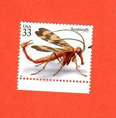 US Scott # 3351s 33¢ Scorpionfly Single Unused Stamp NH OG
