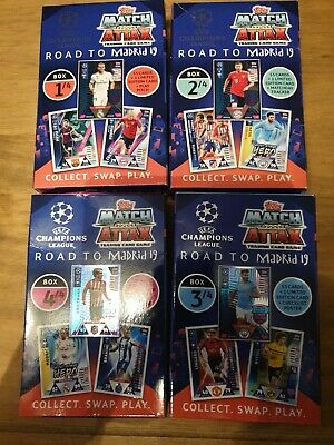 Topps Champions League Match Attax 2018/19 Road to Madrid / 4 Box Set