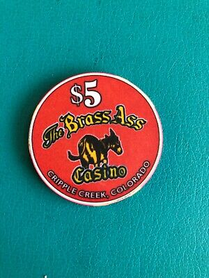 The Brass Ass Casino Limited Edition Casino Chip  Cripple Creek CO ISSUED 2000