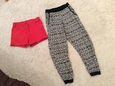 River Island Girls Trousers & Red Shorts Bundle, Age 7-8 Years