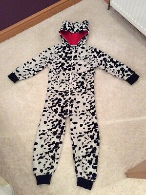 Next Girls Black & White 1onesie, Fluffy, Bear Ears. Age 7 Years, All In One