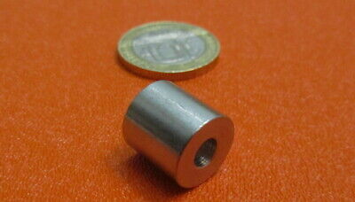 """Stainless Steel Spacer, No 10 Screw, .500"""" OD x .192"""" ID x .500"""" Length, 3 pcs"""