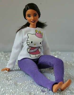 №297 Clothes for Curvy Barbie Doll. Blouse and Leggings for Dolls.