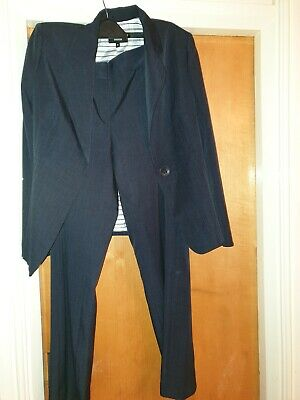 Marks And Spencer Woman's Suit Navy Blue Size 16