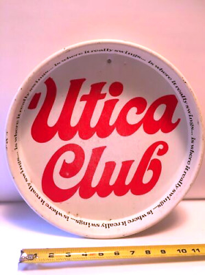 """RARE Vintage 1960's """" UTICA CLUB is where it really swings """" 13"""" Bar BEER 🍺TRAY"""