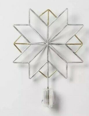 Hearth & Hand Magnolia Siver Metal Moravian Star Tree Topper Chip Joanna Gaines