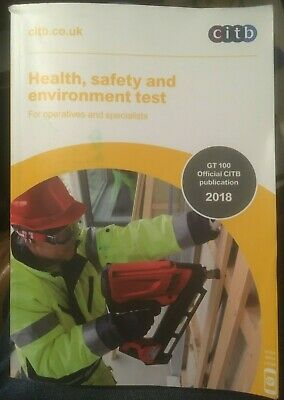 Health, Safety and Environment Test for Operatives and Specialists CITB 2018 PB