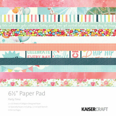 """KAISERCRAFT Scrapbooking Paper Pads - 6.5"""" - Party Time - PP1009"""