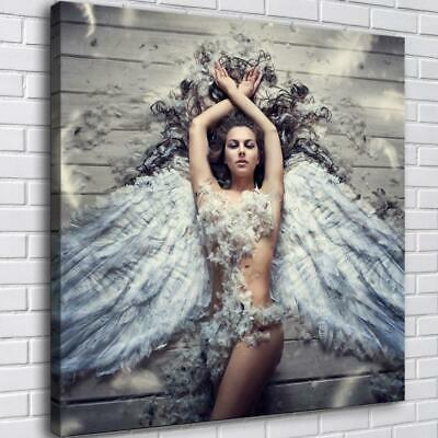 """16""""x16""""Sexy Angel HD Canvas Prints Painting Home Decor Picture Wall Art Poster"""