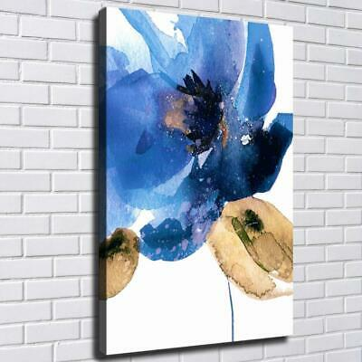 """16""""x24""""Flower Abstract Blue HD Canvas prints Painting Home decor Room Wall art"""