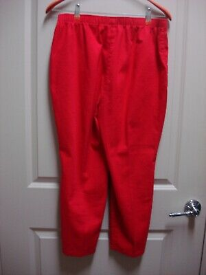 Allison Daley Red Pull On Cotton/Poly/Spandex Crop Pants Size 14 Petite Nice!