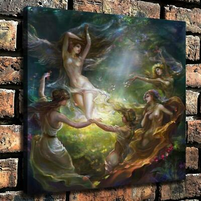"""16""""x16""""Nude Woman HD Canvas Prints Painting Home Room Decor Picture Wall Art"""