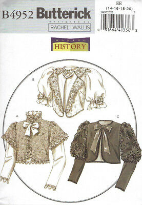 Civil War Era Jackets Costumes Misses size 14-20 Butterick 4952 Sewing Pattern