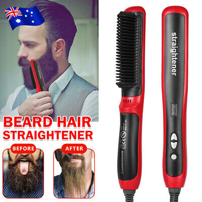 Portable Man Quick Beard Straightener Multifunctional Hair Comb Curling Curler