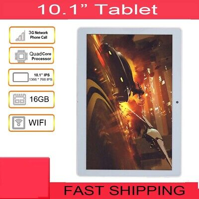 10.1'' Tablet PC For Google Android Quad Core 1+16GB Dual Camera WIFI 3G Phablet