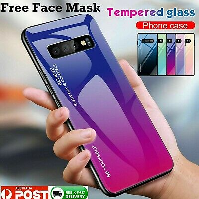 Samsung Galaxy S8 S9 S10 S20 Plus Ultra S10e Note10 A8s Tempered Back Case Cover