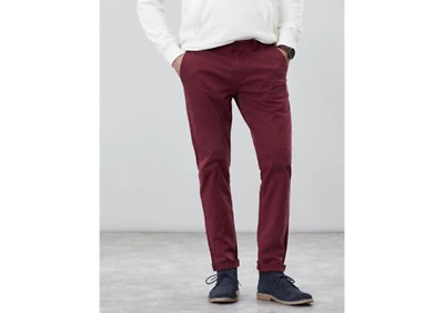 Joules Mens The Laundered Chino Slim Laundered Slim Fit Rugby Red