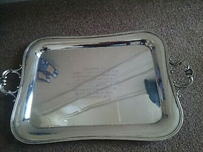 Large Antique 1927  Silver Plated Ayr Police Commemorative Drinks Tray