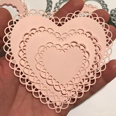 Lace Heart Metal Cutting Dies Stencil Embossing Craft Die Cut Stamps DIY Card Ss