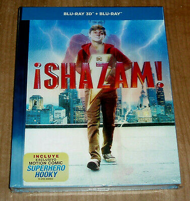 Shazam Digibook Blu-Ray 3D +Blu-Ray +Book Lenticular New Action (Sleeveless