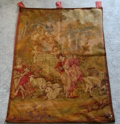 Antique Victorian Tapestry Wall Hanging