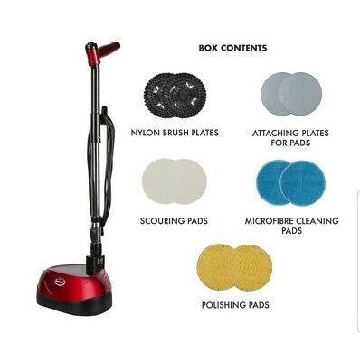 Ewbank EP170 All-In-One Floor Cleaner, Scrubber and Polisher, Red 1-(Pack)