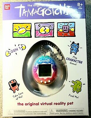 Tamagotchi The Original Gen 1 Rainbow 1.5-Inch Virtual Pet Toy *Free Shipping*