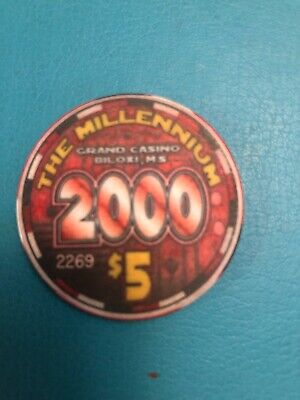 Grand Casino Chip Biloxi MS LIMITED EDITION CLOSED 2005 Issued 2000