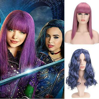 Lady Girl Descendants 2 Mal Evie Cosplay Wig Long Fancy Dress Party Costume Xmas