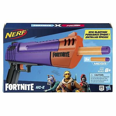 NERF Fortnite HC-E Mega Dart Blaster Gun Front-load, 3 Darts Kids Top Quality