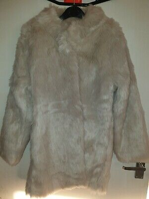 Next Girls Fur Coat age 11-12 great condition