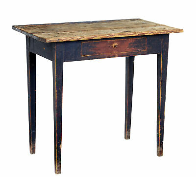 19Th Century Swedish Painted Pine Side Table