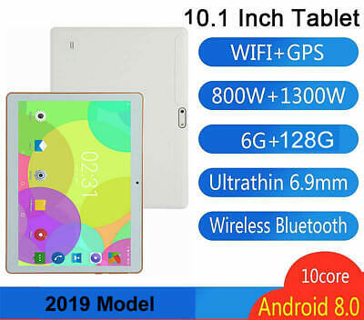 10.1 Inch Android 8.0 Tablet 6GB 128GB 3G WiFi GPS Bluetooth Dual Camera SIM 3D