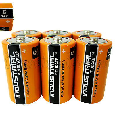 6 Duracell Taille C Piles Industriel Procell Alcaline LR14 MN1400 1.5V