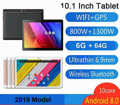 Android 8.0 Tablet 10.1 Inch 6GB 64GB 3G Call WiFi GPS Bluetooth Dual Camera SIM