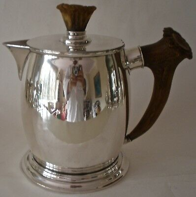 Large American Redlich Sterling & Antler Tankard Pitcher Retailed By T B Starr