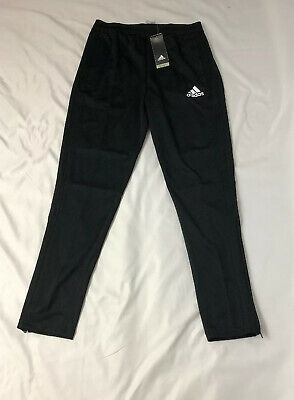 NWT ADIDAS Youth CON18 TR Athletic PANTS Black Large ClimaCool 100% Polyester