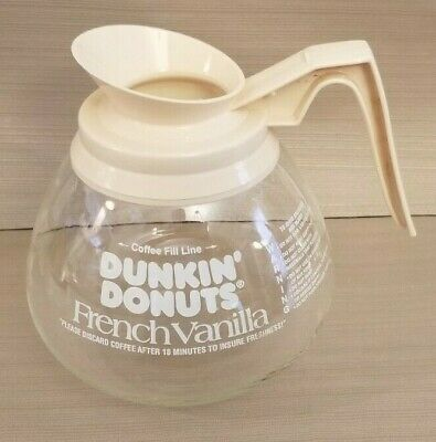 Dunkin' Donuts French Vanilla Commercial Glass Coffee Pot Decanter Cream Handle