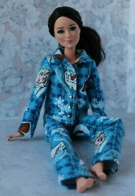 №315 Clothes for Barbie Doll. Flannel Pajamas for Dolls.