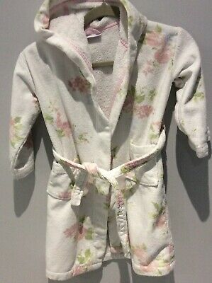 The Little White Company Girls Toweling Dressing Gown. 5-6