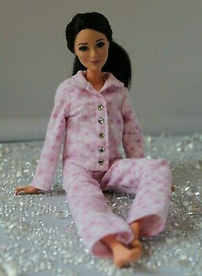 №083 Clothes for Barbie Doll. Flannel Pajamas for Dolls.