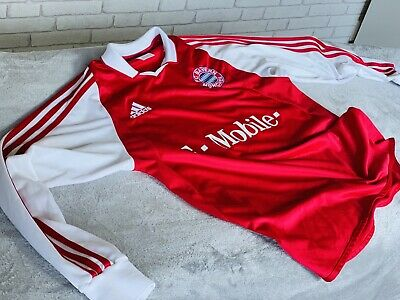 Bayern Munich 2003 Adidas Football Soccer Shirt Longsleeve L/s Men's Small Retro