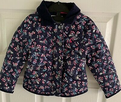 Joules Newdale Print Girls Quilted Jacket - Age 2