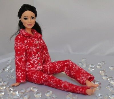 #007 Clothes for Barbie Doll. Flannel Pajamas for Dolls