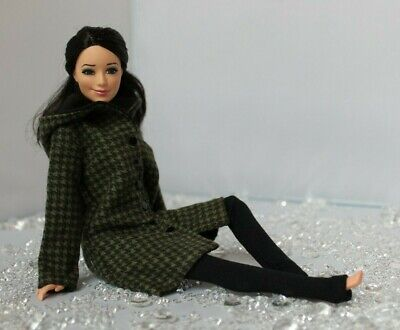 №077 Clothes for Barbie Doll. Hooded Coat and Leggings for Dolls.
