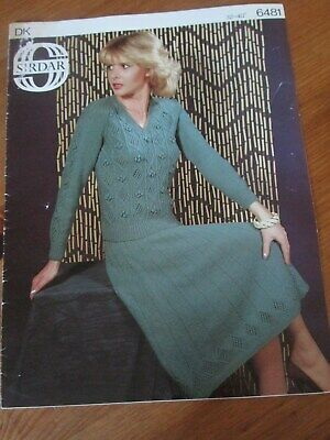 "Crochet Pattern Ladies Retro Suit Skirt Jacket PATTERN ONLY 32-40/"" DK #lt87"