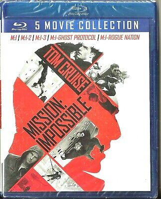 Mission: Impossible 5-Movie Collection Blu-ray Tom Cruise BRAND NEW