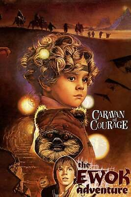 "STAR WARS EWOKS CARAVAN OF COURAGE 11""x17"" TV MOVIE POSTER PRINT #1"