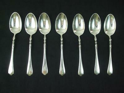 Antique 1915 Sterling Silver 7 Coffee Spoons Patd 5.18.5 Monogrammed Betty 5.5""